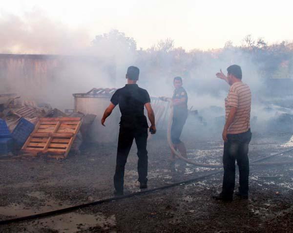 Zeytin fabrikasında yangın çıktı!