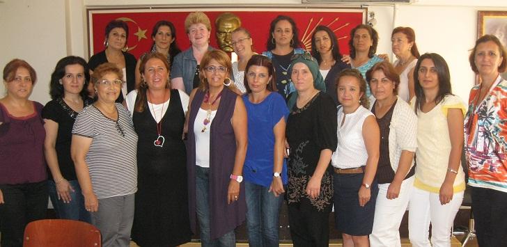 CHP'li kadınlardan sıkı çalışma!