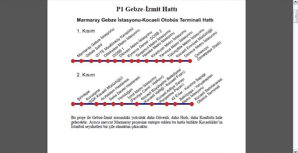 Gebze metro projesi hazır!