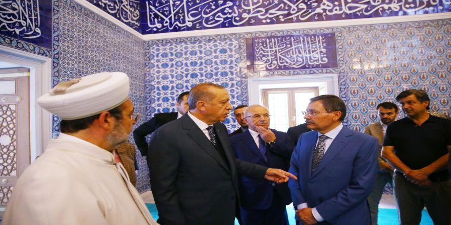 Cumhurbaşkanı Erdoğan, Ulus İtfaiye Meydanı Camii'ni İnceledi