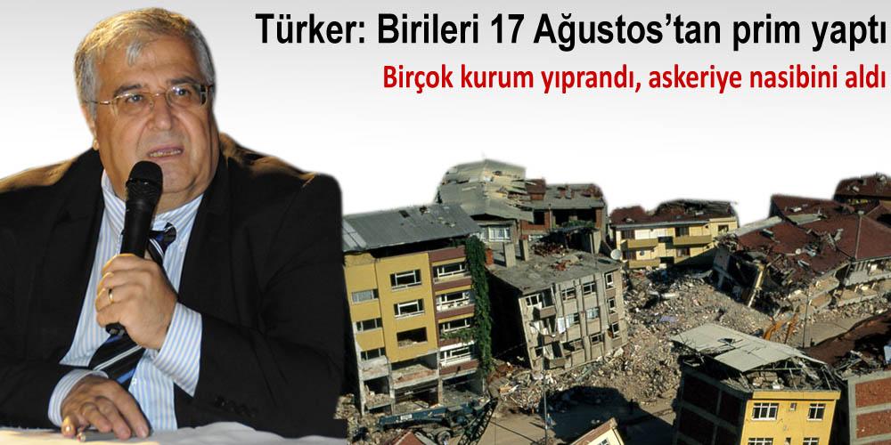 Türker depremin 13. yılında Kocaeli'ne geldi!