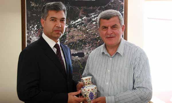 Kaymakam Erkal'dan Başkan'a veda ziyareti!