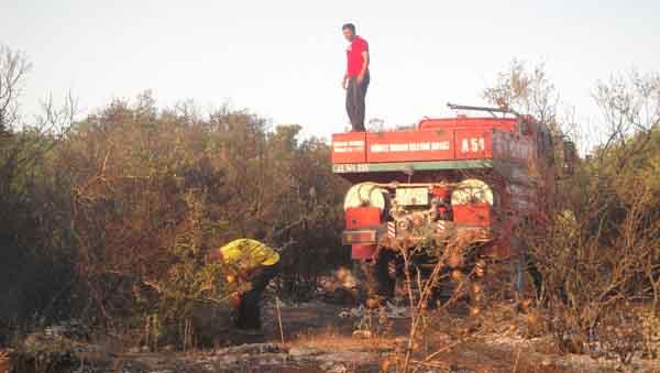 Çerkeşli Köyü'nde yangın çıktı!