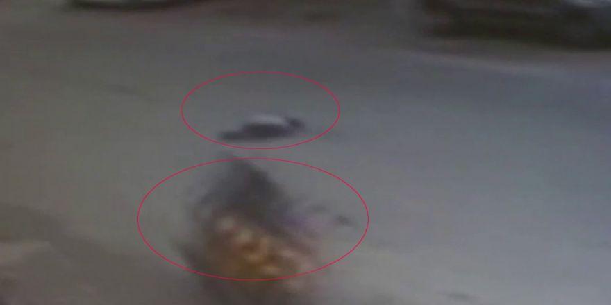 Motosiket Sürücüsü Küçük Çocuğa Çarpıp Böyle Kaçtı