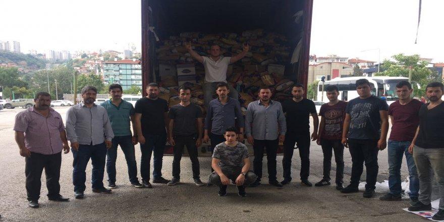 Ülkücüler'den Suriye'ye yardım eli