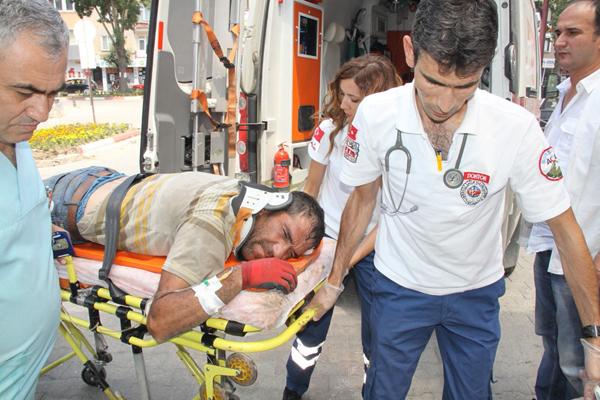 Elektirik direğinden düşen işçi yaralandı!