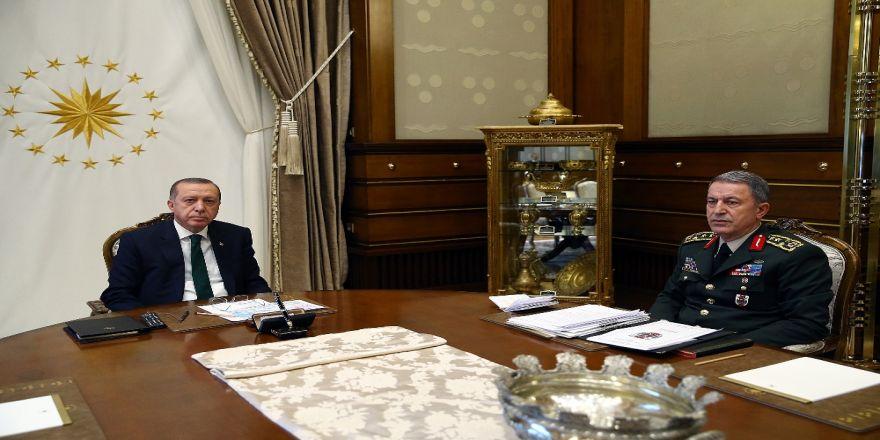 Cumhurbaşkanı Erdoğan, Org. Akar'ı Kabul Etti