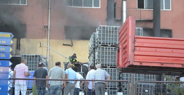 Reçine fabrikasında korkutan yangın!