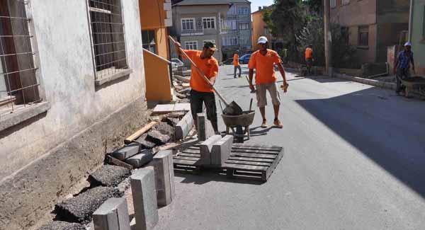 Kandıra caddeleri asfaltlanıyor!