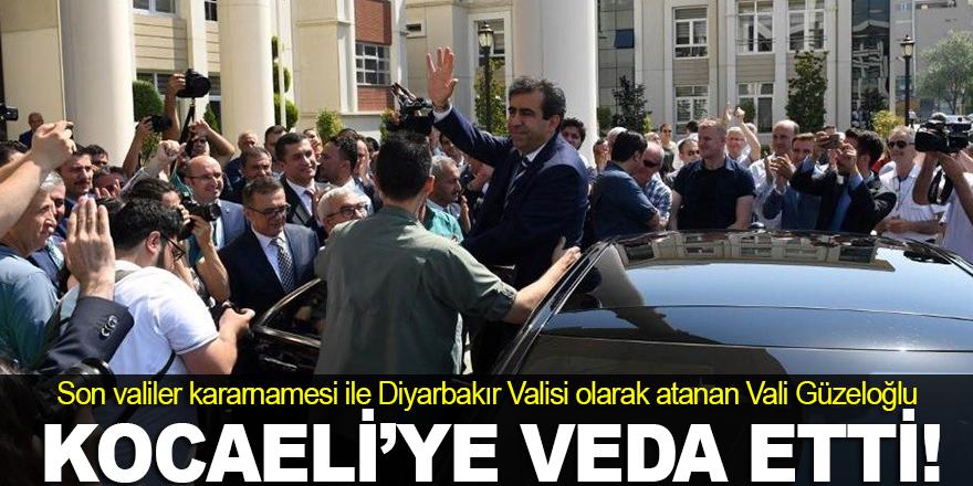 Vali Güzeloğlu, Kocaeli'ye veda etti