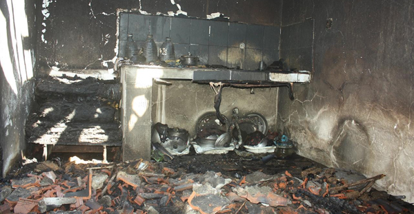 Tüpten sızan gaz evi kül etti!