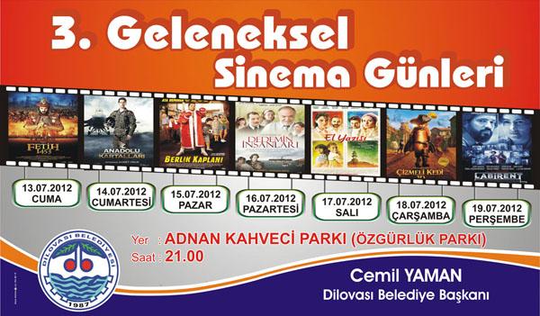 Dilovası Belediyesi'nde sinema günleri başlıyor