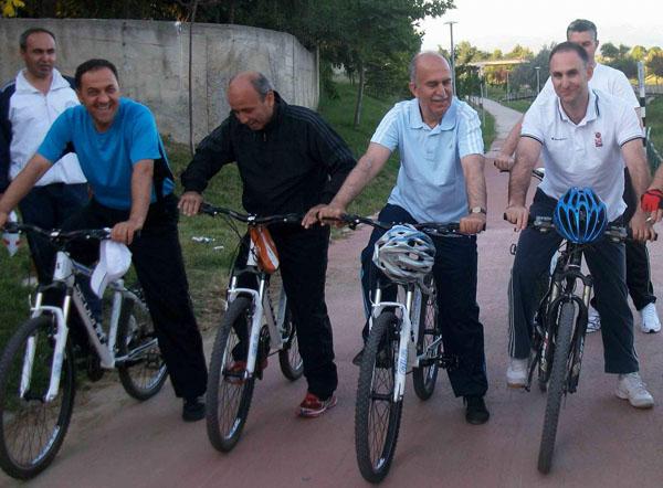 Vali Harput bisiklet sürdü!