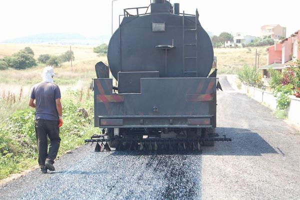Denizkent'te asfalt çalışması!
