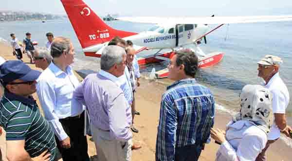 Deniz uçağı Başkanlar'a tanıtıldı!