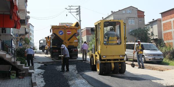 Gebze'de asfalt çalışmaları başladı!