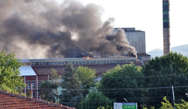 Şeker fabrikasında korkutan yangın!