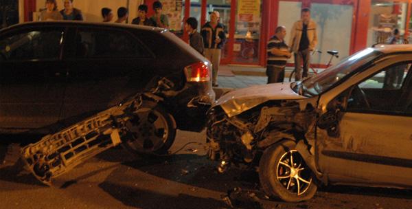 Çorlu'da zincirleme kaza: 1 yaralı!