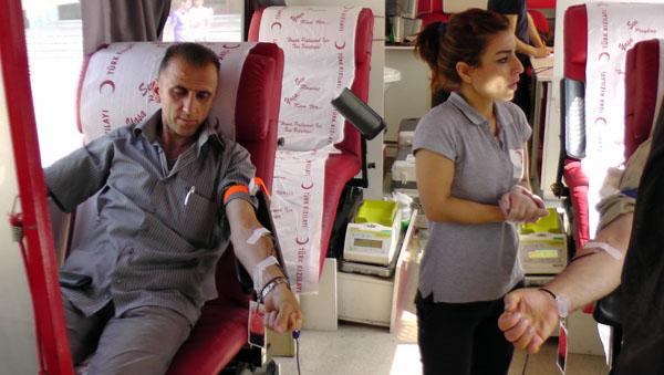 Kan bağışı kampanyasına yoğun ilgi!