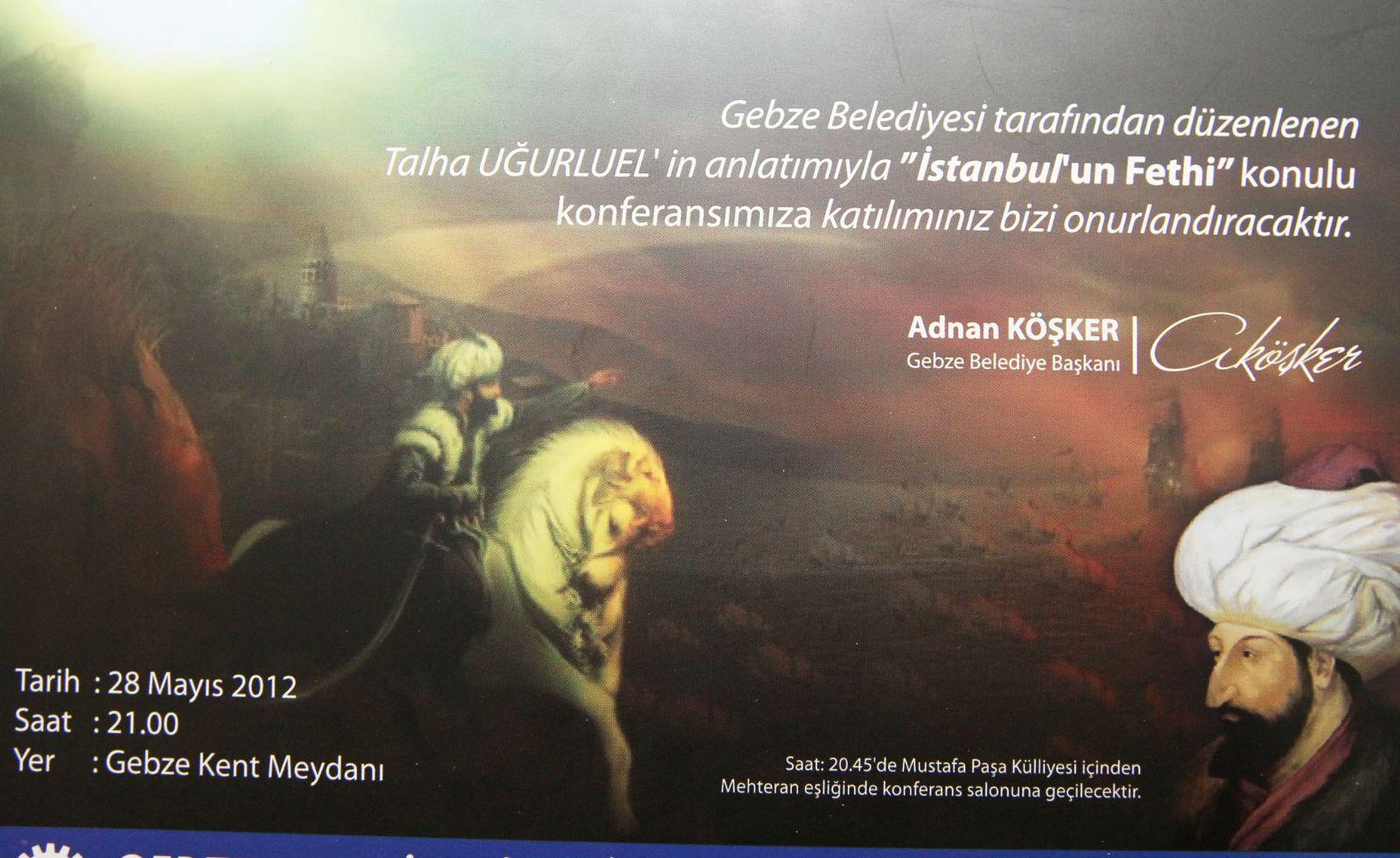 İstanbul'un fethi Gebze'de anlatılacak!