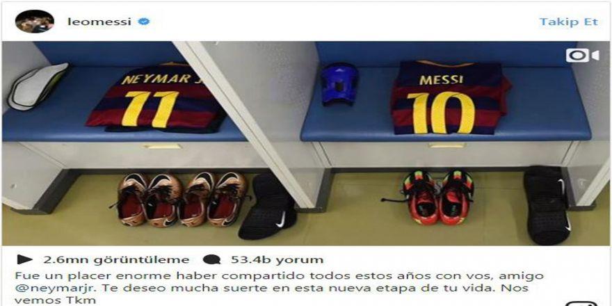 Messi'den Neymar'a Veda