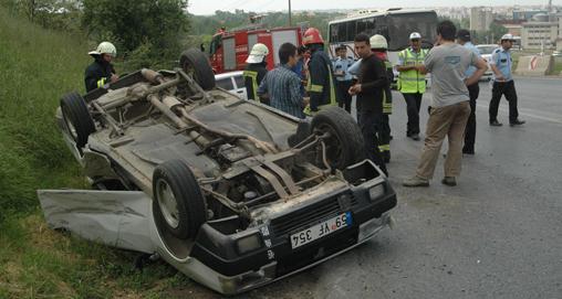 Çorlu'da alkollü sürücü kazaya neden oldu!