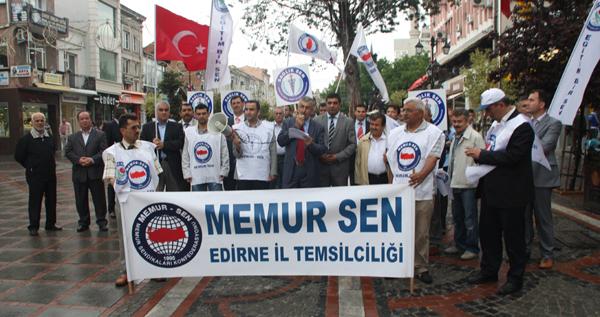 Edirne'de memurlar sokağa döküldü!