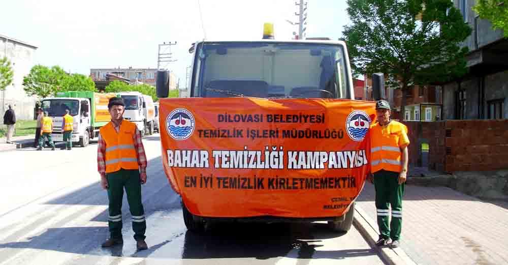 Dilovası Belediyesi bahar temizliğine başlattı.