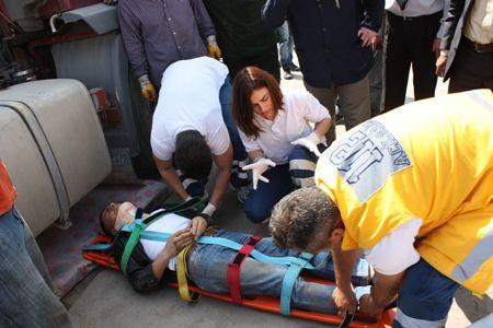 Sanayi Sitesi'nde kaza: 1 yaralı!