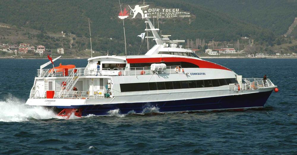 Çanakkale'de deniz otobüsü seferlerine yeniden başlandı!