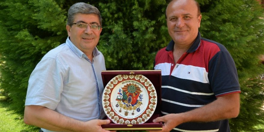 Bilecikspor Eski Teknik Adamı Çalışkan'dan Başkan Vekili Can'a Ziyaret