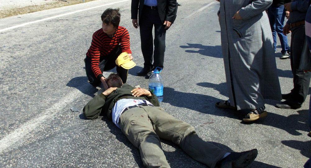 Biga'da motorsiklet kazası: 1 yaralı!