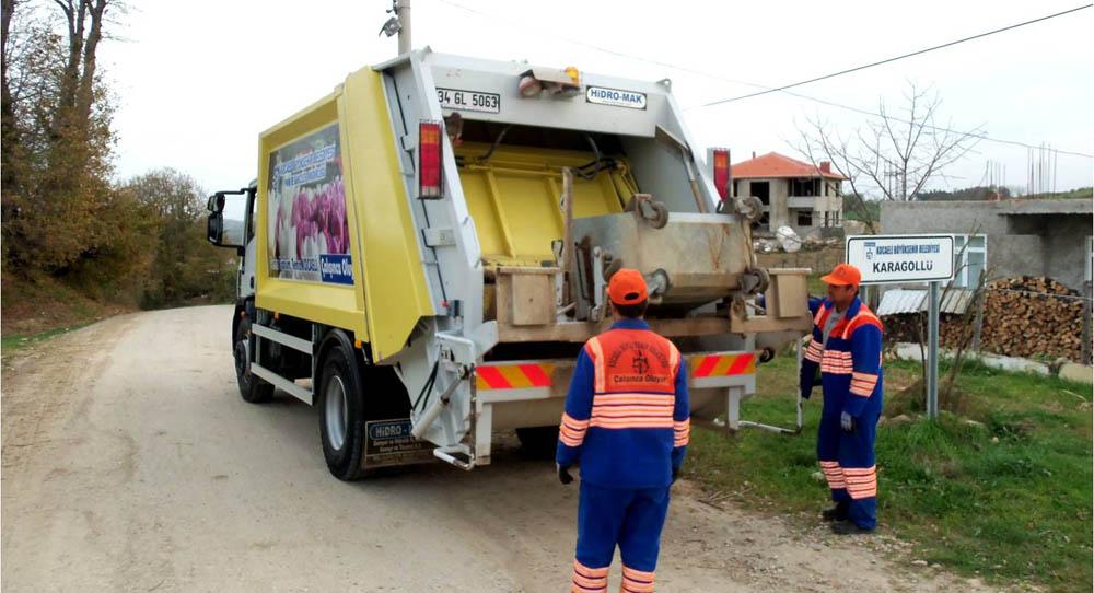 Köylerden günde 110 ton çöp toplanıyor!