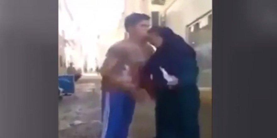 Oğluna kafa atan anne