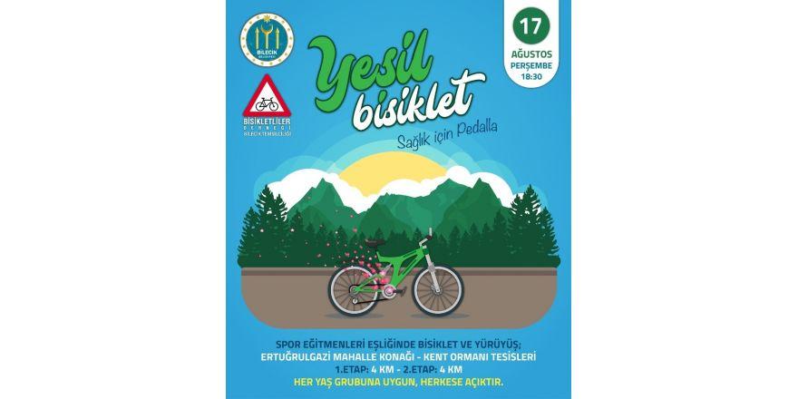 """""""Yeşil Bisiklet Sağlık İçin Pedalla"""" Projesi"""
