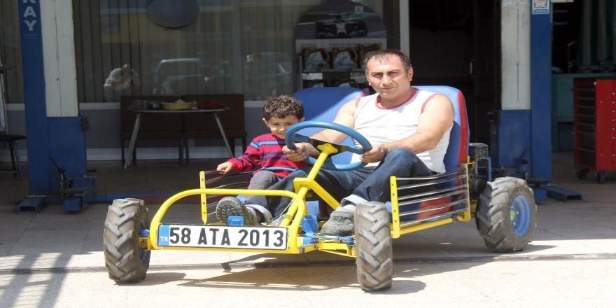 Çocuklarıyla Gezmek İçin 4 Bin Liraya Araç Yaptı