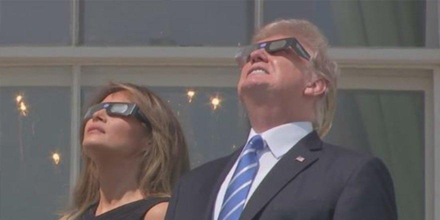 Güneş tutulması mı? Trump mı? dikkatleri çeken
