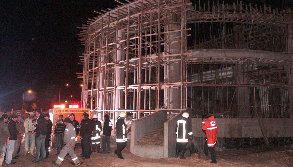 Bilecik Belediyesi'ne ait inşaat çöktü: 1 yaralı!