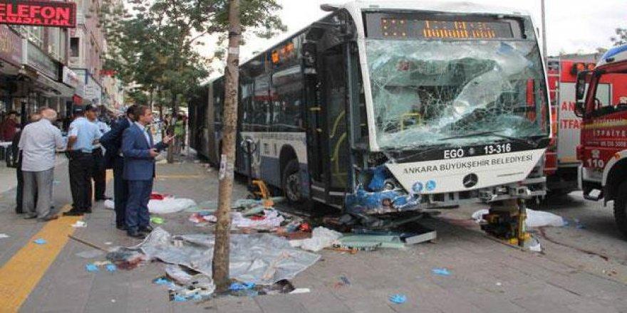Ankara'da katliam gibi kaza!