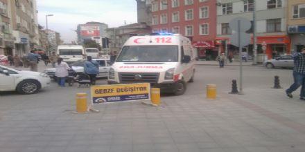 Eskiçarşı'da ambulans skandalı!