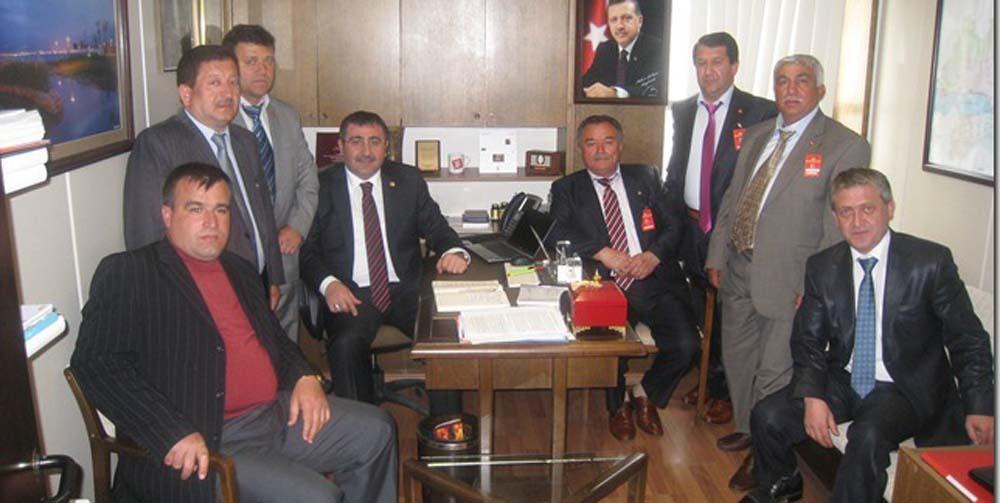 Gebzeli Muhtarlar Meclis'te Okur'u ziyaret etti!
