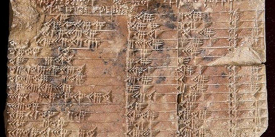 3 bin 700 yıllık trigonometri tableti bulundu