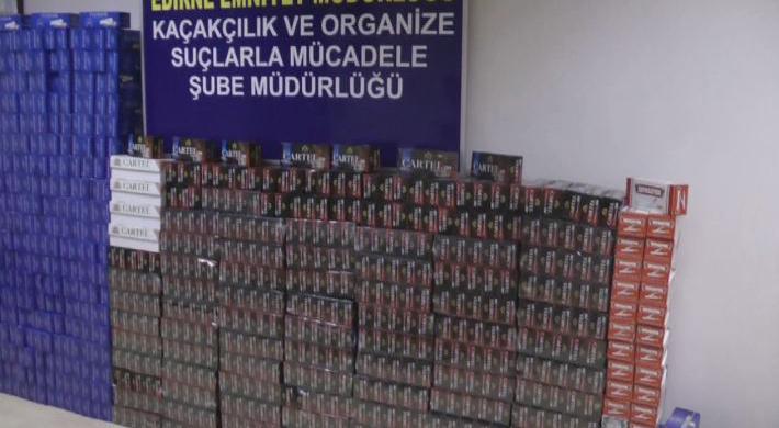 Edirne'de kaçak sigara tüpü operasyonu: 2 gözaltı!