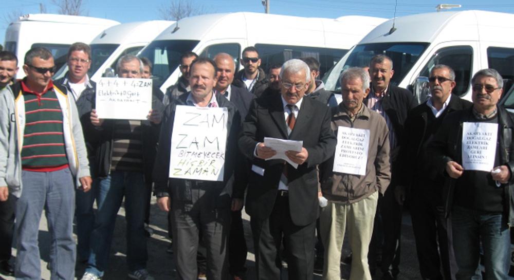 Mudanyalı sürücülerden benzin zammına protesto!