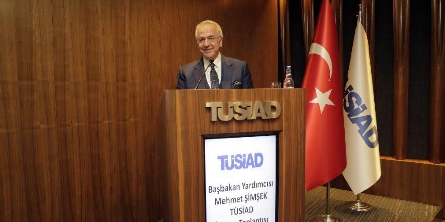 Başbakan Yardımcısı Mehmet Şimşek Tüsiad'ı Ziyaret Etti