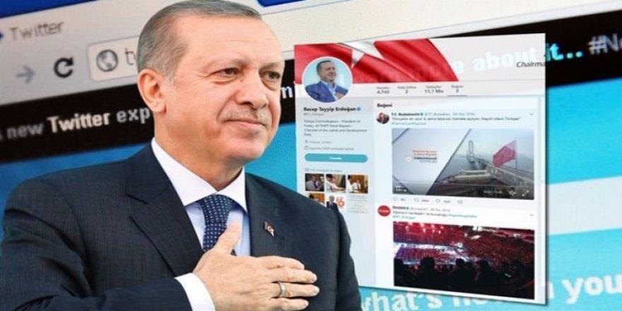 Erdoğan, Twitter'da bu 3 tweeti beğendi
