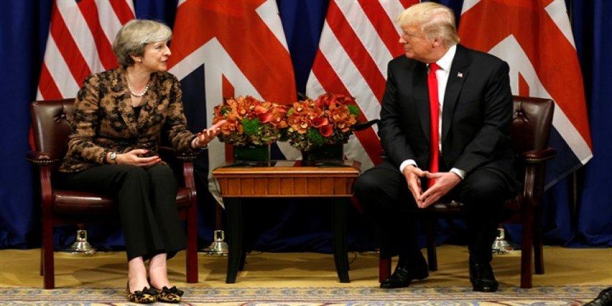 May, Trump ile görüştü