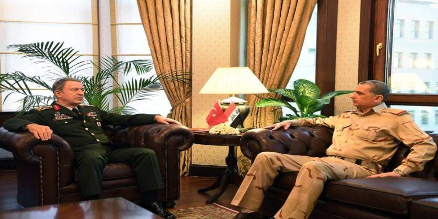 Irak Genelkurmay Başkanı, Orgeneral Akar'ı Ziyaret Etti