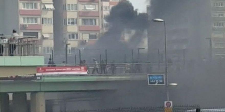 Ataköy Metro İstasyonunda Yangın