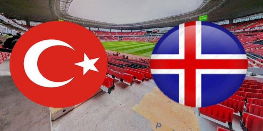 Türkiye-İzlanda 11'ler belli oldu